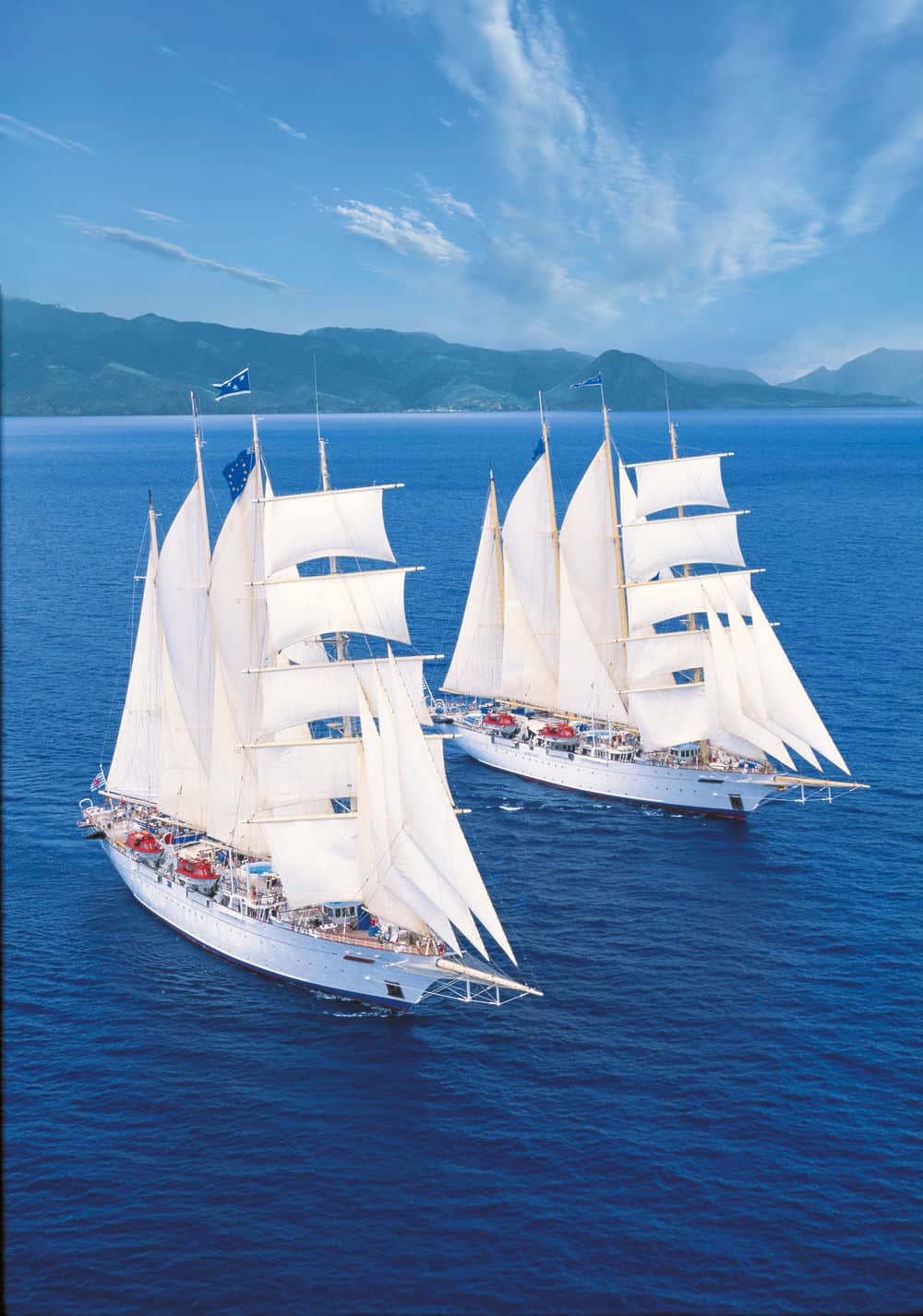 "Die Schwesterschiffe ""Star Flyer"" & ""Star Clipper"", Foto: Star Clippers"